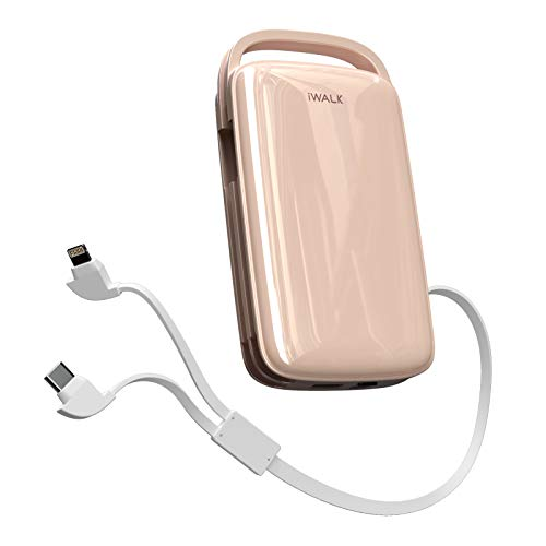 iWALK Portable Charger 20000mah Power Bank 18W PD Fast Charger with Built in Cables USB C Compatible with iPhone 12 Mini/12/12 Pro/12 Pro Max/11/XR/X/8,Samsung Galaxy S20,S10,S9,S8,Note 20/10,LG