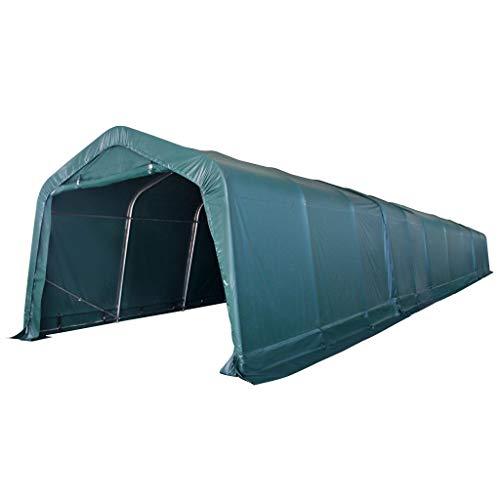 FZYHFA Grande tente d'élevage portable en PVC avec protection solaire Vert foncé 3,3 x 16 m