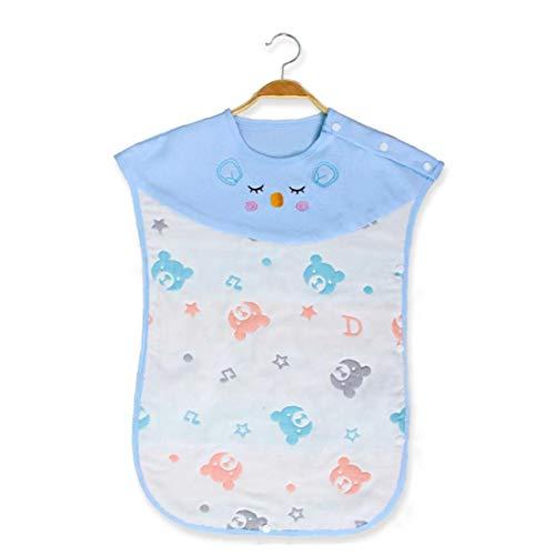 tJexePYK Bebé Saco de Dormir Ajustable Manta de algodón usable bebé Mantas Envolver lecho del bebé del Oso Azul Jefes Patrón
