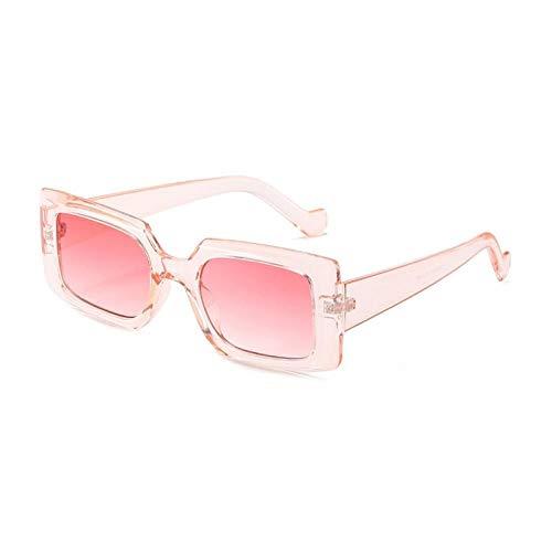 ZZOW Ins Gafas De Sol Rectangulares De Moda Populares para Mujer, Gafas De Color De Gelatina Vintage, Gafas De Sol De Diseñador De Marca, Gafas De Sol Cuadradas para Hombre, Uv400