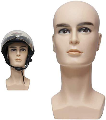 Maniquí Ajustable Molde Macho Maniquí Head PVC simulada Cabeza Casco Gafas colocación de los Brackets Bufanda Máscara Headset Puntales de visualización
