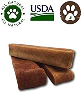 Top Dog Chews Himalayan Xl Yak Cheese Premium Dog Chew (Avg 5 Oz Each), 3 Pack. Long Lasting, Low Odor & Grain Free. All Natural, Usda/Fda Approved.