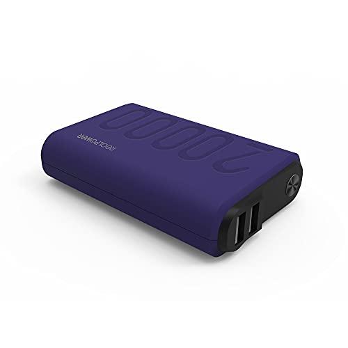 RealPower PB-20000PD+ Mobiles Ladegerät mit 20000mAh, 2 USB Ports, USB C Ein- Ausgang & Power Delivery für Galaxy S8, S8+, das neue MacBook, Google Pixel, Nexus 5X/6P, HTC 10 & mehr