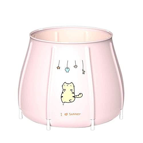 Bañera plegable Adulto Durable Cómodo Tubo Plegable Bañera Barril Portátil No Inflable Plegable Adulto Bañera Bañera Barril Bañera Espesado Bañera de gran tamaño (Color : Pink Kitten)