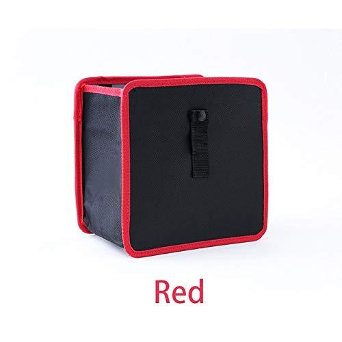 Xintian Trash Can Auto-Abfalleimer Portable Drive Bin hängend Wasteket Rücksitz Aufbewahrungstasche Wasserdicht Mülltonne Speicherorganisatorkasten Abfalleimer (Color Name : Red)