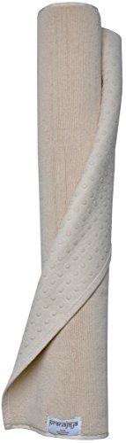 PRANAJAYA Premium Baumwoll-Yogamatte Pilates rutschfest waschbar schadstofffrei 190x70cm groß Fitness (Natur)