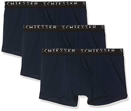 Schiesser Herren Boxershorts, Blau (Navy 815), 4 (3er Pack)