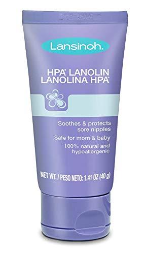 Lansinoh Lanolin Nipple Cream, 100% Natural Lanolin Cream for Breastfeeding, 1.4 oz Tube (2-Pack (1.4 oz))