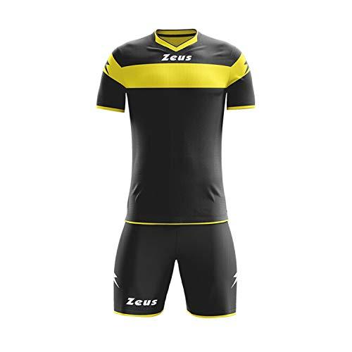 Zeus, Maglia + Pantaloncino Calcio Kit Apollo, Colore: Nero-Giallo, Taglia: M
