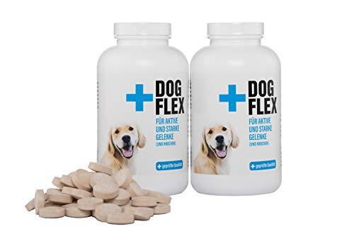 Flex Dog Doppelpack Nahrungsergänzungsmittel Gelenke Hunde - 2x150 Tabletten - Glucosamin, Chondroitin, MSM hochdosiert