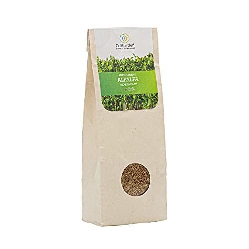 Bio Alfalfa Luzerne Keimsaat | 200 g – Alfalfa Sprossen Samen für Sprossen und Microgreens mit hoher Keimfähigkeit - 100% Laborgeprüfte BIO-Qualität – mit Keimanleitung (1x Alfalfa)