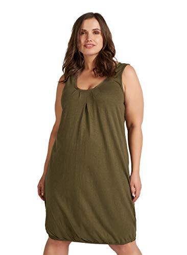 Zizzi Damen Große Größen Baumwoll Kleid mit Rundhalsausschnitt Gr 42-56
