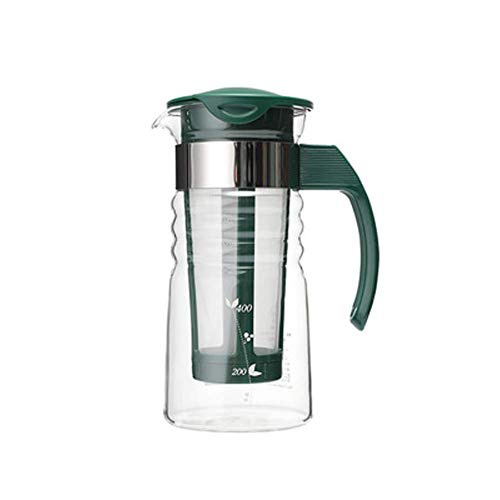 WLGQ Kristallglas-Wassersaft-Cocktailkrug 1200 ml Filterkrug-A