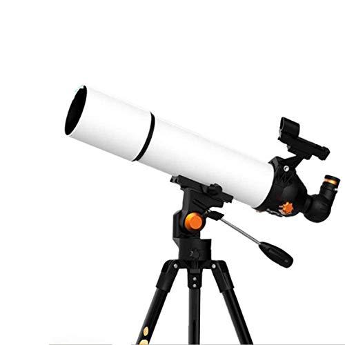 ZHTY Telescopio para Principiantes en astronomía, telescopio de Viaje Refractor portátil de 80 mm para Acampar, Ideal para Que los niños exploren el telescopio Espacial de la Estrella de la Luna