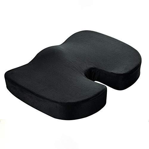 FEIFEI Cojin Ortopédico Coxis para silla y asiento. Alivia el dolor y corrige la postura de Espalda y Lumbar,Cuida de tu salud, para Coxis, hemorroides, Cojin Antiescaras/A
