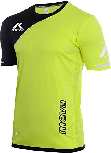 Meva Malaga Herren Fußball Trikot/Trainings Trikot für Sport - Slim fit, Hoch atmungsaktives Material, Neon Yellow