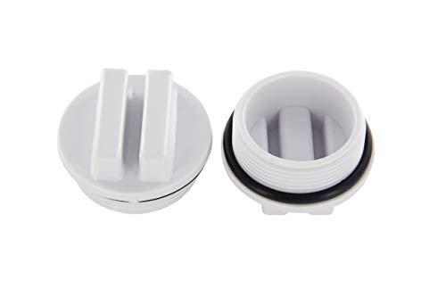 Steinbach Tapón de Invierno para Skimmer, Incluye Junta tórica, 1-1/2' AG, Color Blanco
