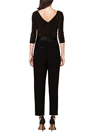 s.Oliver BLACK LABEL eleganter Damen-Jumpsuit, schwarz - 3