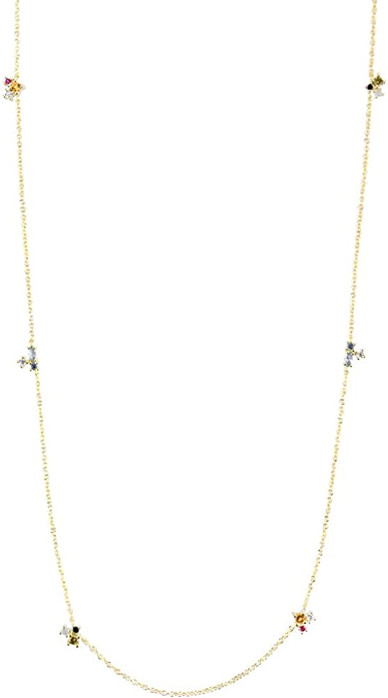 925 Sales Sterling Silver Gold Olive Cha Max 87% OFF Champagne Yellow Three Zircon