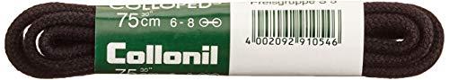 1 Paar Collonil Schnürsenkel Kordel - rund - dick - Ø 3 mm verschiedene Farben und Längen (90 cm, schwarz)