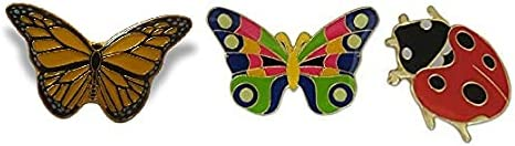 3-Piece Butterfly Ladybug Bug Pride Max 78% OFF Pin Max 76% OFF Hat Variety Lady Lapel