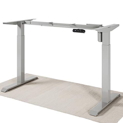 Desktronic Elektrisch Höhenverstellbarer Schreibtisch Gestell – Bringe Deine Eigene Tischplatte an – Schreibtisch Höhenverstellbar - Schnelles Wechseln Zwischen Sitzen und Stehen (Grau)