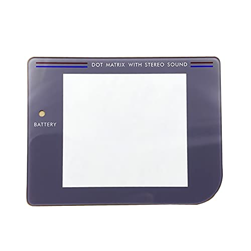 Nueva protección de pantalla, vidrio, superficie de espejo, repuesto gris, para consola portátil For Nintendo Game Boy GB Game Boy, protector resistente a los arañazos + pegamento trasero