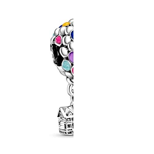 2 piezas de plata de dibujos animados cuentas encantos pulseras para las mujeres originales marca pulseras/collares brazalete joyería fabricación accesorios-28