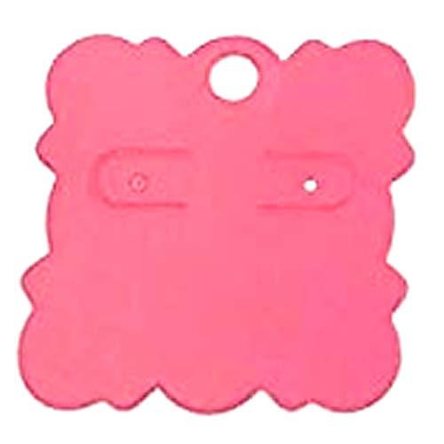 (I) 2穴 ビスケット型ピアス台紙 5枚セット (カラー)03 ペーパータグ アクセサリー台紙 クラフト 厚紙 値札 ラッピング 人気 プレゼント