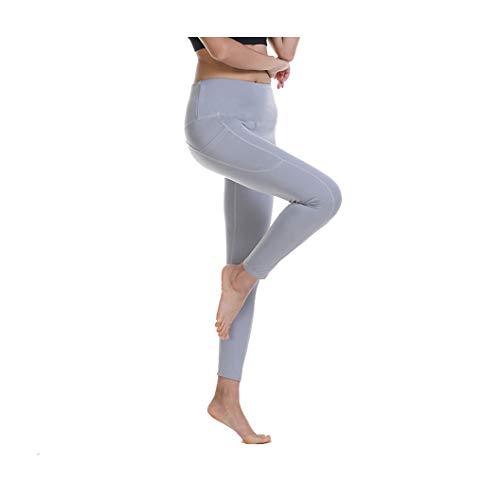 KKMAOAO Damen Yoga-Hose, modische Hose, für Training, Tanz, Hüfte, hohe Taille, Stretch, dünn, Fitness-Hose, Damen, Grau, Sport-Hose, Sommer, Outdoor, Reisen, wild, S, Farbe