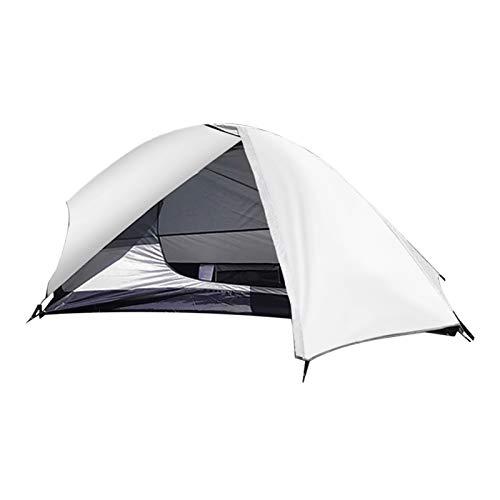 KJBGS Carpa para Camping Tienda de campaña Ultraligero Una Persona Impermeable Mochila Refugio Transpirable al Aire Libre Ultra luz Carpa Conveniente y Duradero (Color : White)