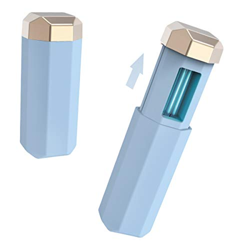 UV desinfectie lamp, draagbare handheld desinfectie Wand, UVC Germicidal Stick, luchtreiniger USB Oplaadbare Ozon Diepe Ultraviolet Sterilizer Wand voor Travel Hotel Huishoudelijke Office Blauw