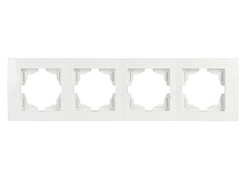Gunsan Moderna 4-fach Rahmen für 4 Steckdosen Schalter Dimmer Weiss