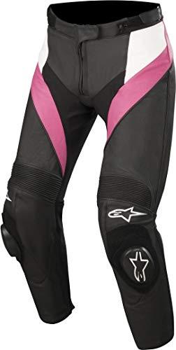 Alpinestars Motorrad Lederhose Stella Missile Pants Lady Black/Fuchsia, 40