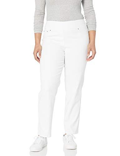 Ruby Rd. Women's Plus-Size Pull-on Extra Strech Denim Jean, White, 16W