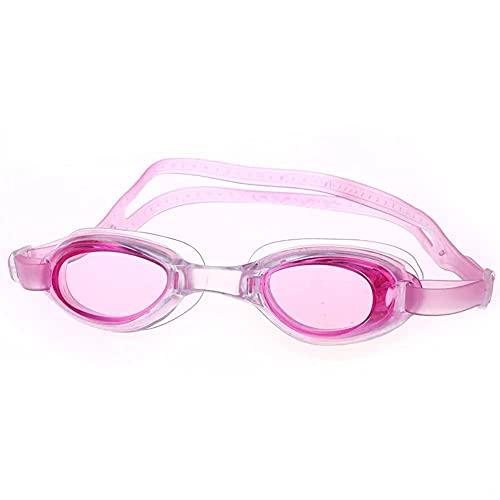 LZZB wasserdichte und beschlagfreie Schwimmbrillen Schrumpfband Schwimmbrillen PVC Kinder Schwimmbrillen Set Wettkampf Schwimmbrillen (3er Pack),Rosa