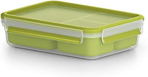 Tefal K3100412 - Masterseal to go - Boîte Snack 3 Compartiments - 1.2 L - Vert