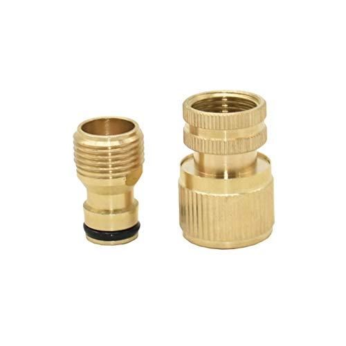 Conectores De Manguera 1/2 3/4 Conector rápido de latón Jardín de agua Agua Agua Agua de Agua Metal Conector de tubería de agua de metal Conector de cobre 5 (Color : 1I2)