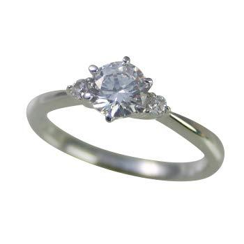 婚約指輪 ケース付 ダイヤモンド プラチナ 0.2カラット 鑑定書付 0.208ct Fカラー VS1クラス 3EXカット H&C CGL サイズ5号