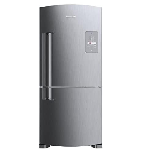 Geladeira Brastemp Frost Free Inverse 573 litros cor Inox com Smart Bar - BRE80AK 110V