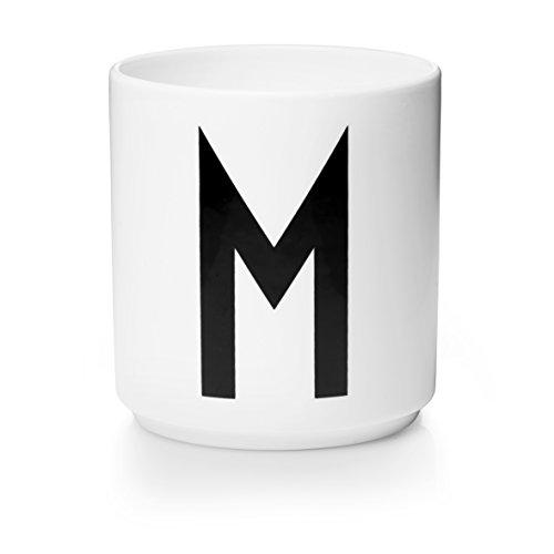 Tasse en porcelaine Motif lettres, Porcelaine fine, blanc, Taille unique