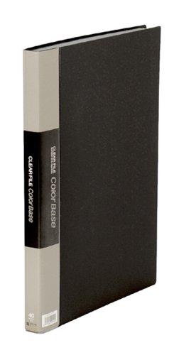 キングジム クリアーファイル カラーベース W B4S 142CW 黒