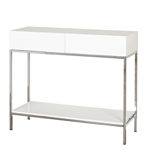 Target Marketing Systems Console Table, White