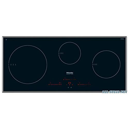 Placa vitrocerámica inducción modelo KM 6380, con 3 zonas de cocción eléctricas de inducción, A+++, color negro, 25 x 91,6 x 41,6 centímetros (referencia: Miele 26638070)