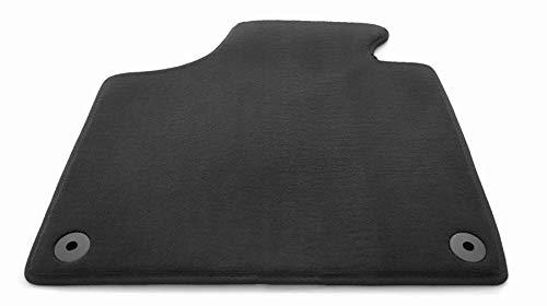 Tapis de voiture en velours kh Teile - Place conducteur - Original et de qualité - Noir