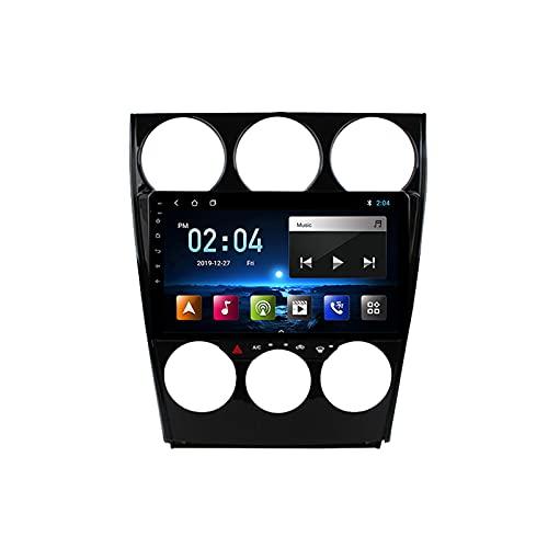 Radio De Coche con Bluetooth GPS FM Cámara De Visión Trasera, Autoradio Bluetooth Manos Libres Radio para Mazda 6 2006-2015, Apoyo Mandos del Volante,Octa Core,4G WiFi 2+32