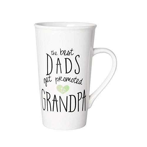 Pfaltzgraff Best Dads Get Promoted To Grandpa Tall Latte Coffee Mug - 18 Ounce