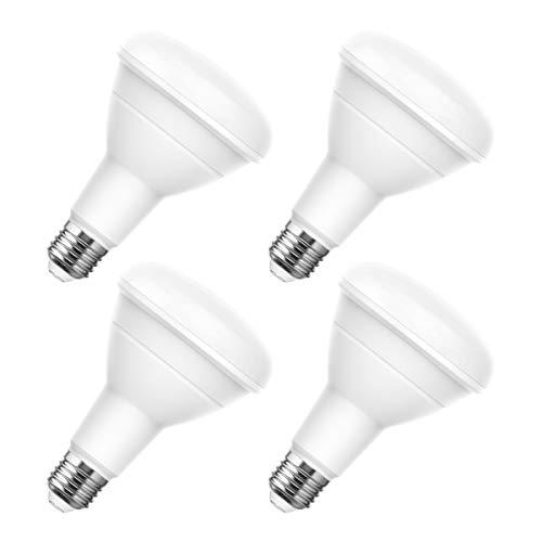 LOHAS BR30 LED Light Bulbs 100 Watt Equivalent, Dimmable 5000K Daylight 13 Watt Flood Light Bulb 1100 Lumen with E26 Base for Downlight Recessed Can Use, 4 Pack