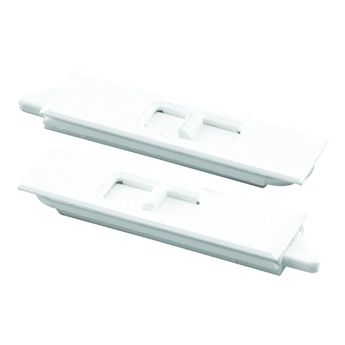 Prime-Line F 2734 Tilt Latch Pair, White Plastic Construction, Spring Loaded, Snap-In