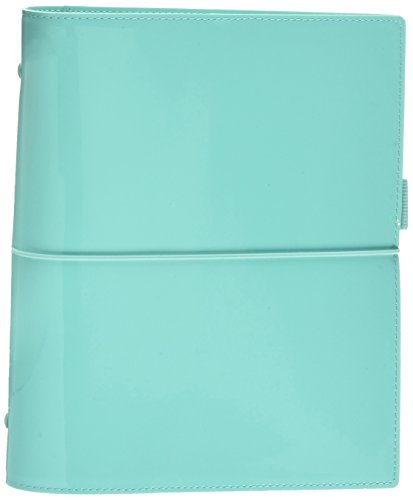Filofax Domino Patent A5 Organiser Turqu (Turquoise)